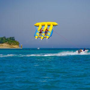 Guys flying on a flyfish